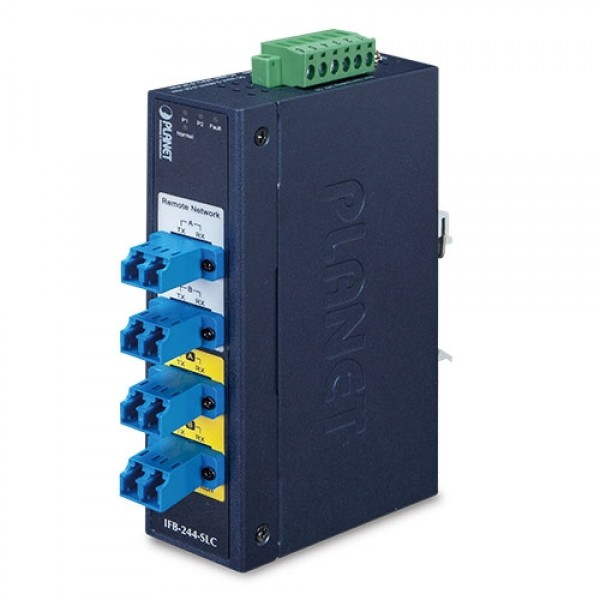 PLANET IFB-244-MLC Industrial 2-Channel Optical Fiber Bypass Switch – multimode LC connector