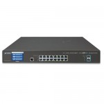 PLANET GS-5220-16T2XVR L2+ 16-Port 10/100/1000T + 2-Port 10G SFP+ Managed Switch with LCD touch screen