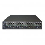 PLANET MC-1610MR48 16-slot Managed Media Converter Chassis (DC power) with Redundant Power Supply System