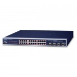 PLANET WGSW-24040HP4 24-Port 10/100/1000Mbps 802.3at PoE+ with 4 Shared SFP Managed Switch