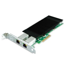 PLANET ENW-9720P 2-Port 10/100/1000T 802.3at PoE+ PCI Express Server Adapter (60W PoE budget, PCIe x4, -10~60 degrees C)