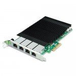 PLANET ENW-9740P 4-Port 10/100/1000T 802.3at PoE+ PCI Express Server Adapter (120W PoE budget, PCIe x4, -10~60 degrees C)