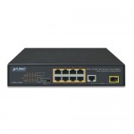 Planet FGSD-1011HP 8-Port 10/100TX 802.3at PoE + 1-Port 10/100/1000T + 1-Port 100/1000X SFP Desktop Switch (120 watts)