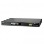 PLANET GS-5220-16T4S2X L2+ 16-Port 10/100/1000T + 4-Port 100/1000X SFP + 2-Port 10G SFP+ Managed Ethernet Switch