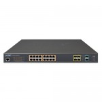 PLANET GS-5220-16UP4S2X L2+ 16-Port 10/100/1000T Ultra PoE + 4-Port 100/1000X SFP + 2-Port 10G SFP+ Managed Switch