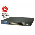 PLANET GS-5220-24P4XV L2+ 24-Port 10/100/1000T 802.3at PoE + 4-Port 10G SFP+ Managed Switch with LCD touch screen