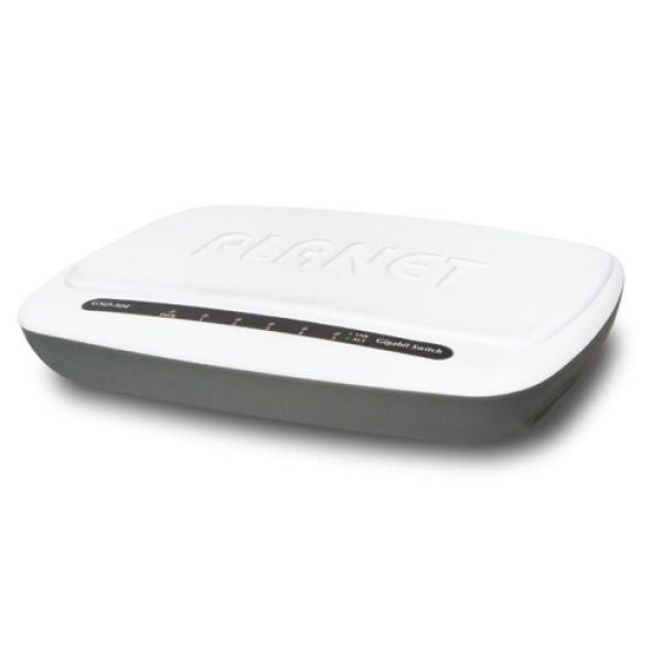Planet GSD-504 5-Port 10/100/1000BASE-T Gigabit Ethernet Switch