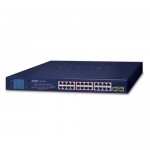 Planet GSW-2620VHP 24-Port 10/100/1000T 802.3at PoE + 2-Port Gigabit SFP Ethernet Switch with LCD PoE Monitor (300W)