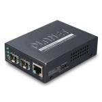 Planet GT-1205A 10/100/1000BASE-T to Dual 1000BASE-X SFP Media Converter