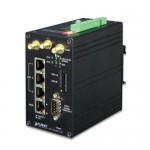 Planet ICG-2420G-LTE Industrial 4G LTE Cellular Gateway with 4-Port 10/100TX (2-SIM Card Slot, 2 RS232, 1 RS485, DI/DO, GPS, -20~70 degrees C)