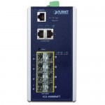 Planet IGS-10080MFT Industrial 8 100/1000X SFP + 2-Port 10/100/1000T Managed Switch (-40~75 degrees C)
