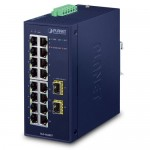 PLANET IGS-1820TF Industrial 16-Port 10/100/1000T + 2-Port 1000X SFP Ethernet Switch