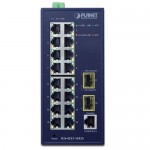 PLANET IGS-4215-16T2S Industrial L2/L4 16-Port 10/100/1000T + 2-Port 100/1000X SFP Managed Switch