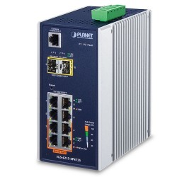 Planet IGS-4215-4P4T2S Industrial 4-Port 10/100/1000T 802.3at PoE + 4-Port 10/100/1000T + 2-Port 100/1000X SFP Managed Switch (-40~75 degrees C)