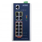 Planet IGS-4215-8P2T2S Industrial 8-Port 10/100/1000T 802.3at PoE + 2-Port 10/100/100T + 2-Port 100/1000X SFP Managed Switch