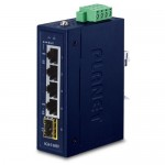 PLANET IGS-510TF Industrial Compact 4-Port 10/100/1000T + 1-Port 100/1000X Gigabit Ethernet Switch