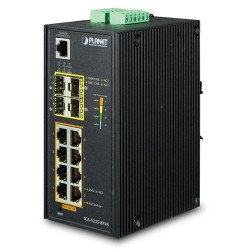 Planet IGS-5225-8P4S Industrial L2+ 8-Port 10/100/1000T 802.3at PoE + 4-Port 100/1000X SFP Managed Ethernet Switch (-40~75 degrees C)