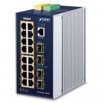 PLANET IGS-6325-16P4S L3 Industrial 16-Port 10/100/1000T 802.3at PoE + 4-Port 100/1000X SFP Managed Ethernet Switch
