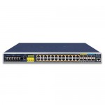 PLANET IGS-6325-24P4X  Industrial L3 24-Port 10/100/1000T 802.3at PoE + 4-Port 10G SFP+ Managed Ethernet Switch (-40~75 degrees C)