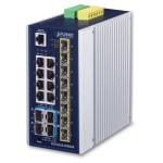 PLANET IGS-6325-8T8S4X Industrial L3 8-Port 10/100/1000T + 8-Port 100/1000X SFP + 4-Port 10G SFP+ Managed Ethernet Switch