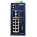 PLANET IGS-6325-8UP2S2X  Industrial L3 8-Port 10/100/1000T 802.3bt PoE + 2-Port 100/1000X SFP + 2-Port 10G SFP+ Managed Ethernet Switch