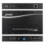 Planet IHD-410PR Video Wall Ultra 4K HDMI/USB Extender Receiver over IP with PoE