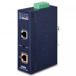 PLANET IPOE-171-60W Industrial Single-Port 10/100/1000Mbps 802.3bt PoE Injector (60 Watts, -40~75 degrees C, 48~56VDC)