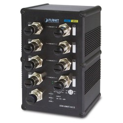 Planet ISW-800T-M12 Industrial IP67 Rated 8-Port 10/100Mbps M12 Fast Ethernet Switch with Wide Operating Temperature
