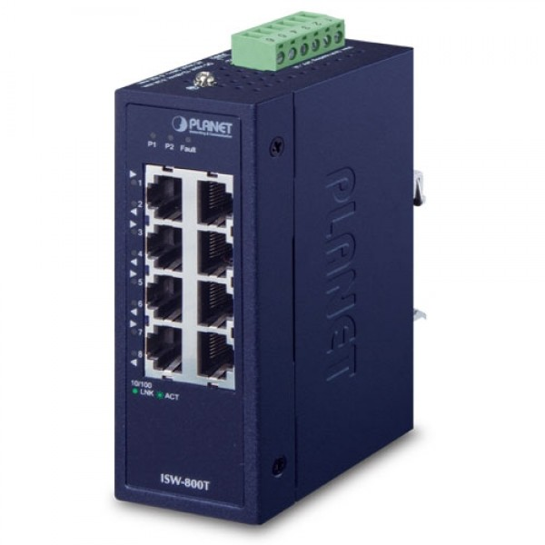 Planet ISW-800T Industrial 8-Port 10/100TX Compact Ethernet Switch