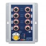 PLANET ISW-808PT-M12A Industrial 8-Port 10/100TX M12 802.3at PoE+ Switch