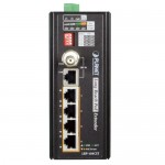 Planet LRP-104CET Industrial 4-Port 10/100TX PoE + 1-Port Coax Long Reach PoE Extender