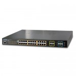 Planet SGS-5220-24P2X L2+ 24-Port 10/100/1000T 802.3at PoE + 2-Port 10G SFP+ Stackable Managed Switch / 440W