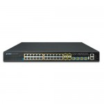 Planet SGS-6341-24P4X Layer 3 24-Port 10/100/1000T 802.3at PoE + 4-Port 10G SFP+ Stackable Managed Switch