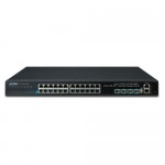 Planet SGS-6341-24T4X Layer 3 24-Port 10/100/1000T + 4-Port 10G SFP+ Stackable Managed Switch