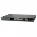 Planet SGS-5220-24T2X L2+ 24-Port 10/100/1000T + 4-Port Shared SFP + 2-Port 10G SFP+ Managed Stackable Switch