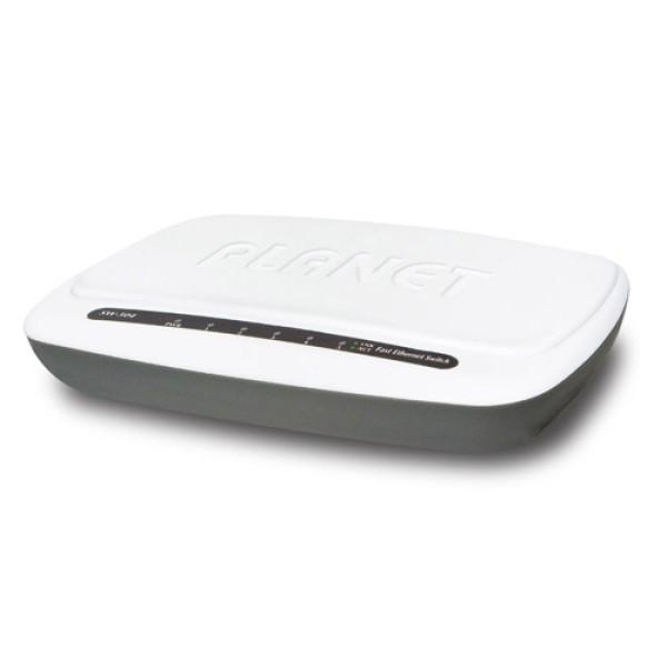 Planet SW-504 5-Port 10/100Mbps Desktop Fast Ethernet Switch