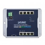 Planet WGS-4215-8T2S Industrial 8-Port 10/100/1000T + 2-Port 100/1000X SFP Wall-mount Managed Switch (-40~75 degrees C)
