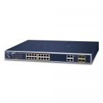 Planet WGSW-20160HP 16-Port 10/100/1000Mbps 802.3at PoE + 4-Port Gigabit TP / SFP Combo Managed Switch