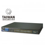 PLANET WS-2864PVR Wireless AP Managed Switch with 24-Port 802.3at PoE + 4-Port 10G SFP+ + LCD Touch Screen and 48VDC Redundant Power