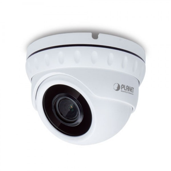 PLANET ICA-M4580P H.265 5 Mega-pixel Smart IR Dome IP Camera with Remote Focus and Zoom