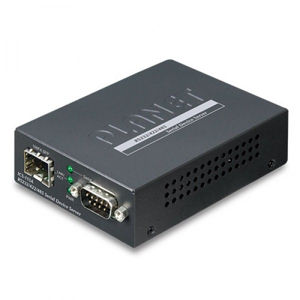 PLANET ICS-115A RS232/RS422/RS485 Serial Device Server with 1-Port 100BASE-FX SFP