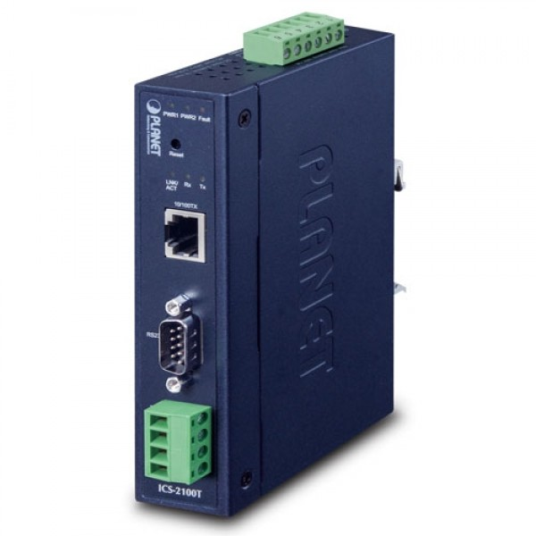 PLANET ICS-2100T IP30 Industrial 1-Port RS232/RS422/RS485 Serial Device Server