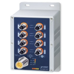 PLANET ISW-808PT-M12 Industrial IP67 8-Port 10/100TX M12 802.3at PoE+ Switch