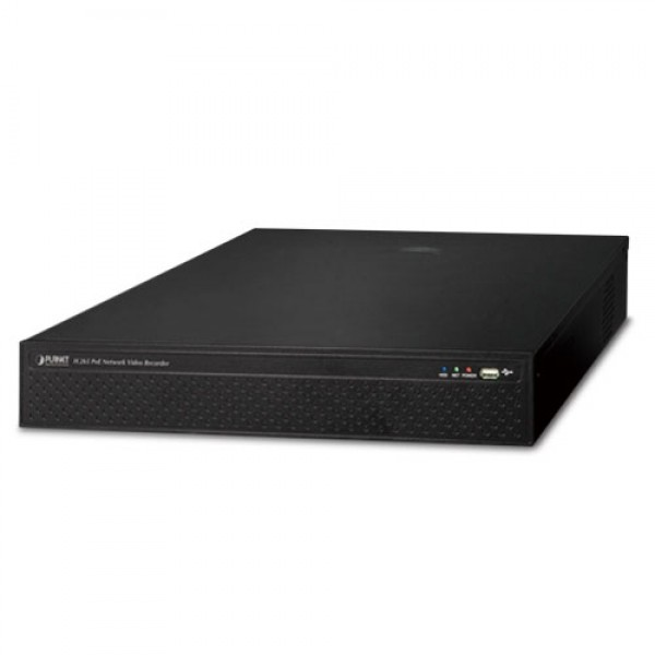 PLANET NVR-2516P H.265 25-ch 4K Network Video Recorder with 16-Port PoE