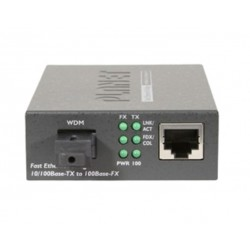 PLANET FT-806B20 10/100Base-TX to 100Base-FX (WDM TX:1550nm, SM) Bridge Media Converter -20km