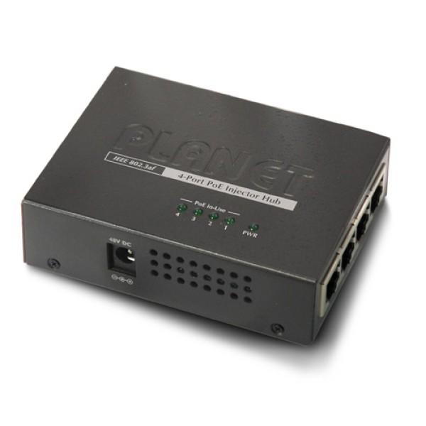 Planet POE-400 4-Port IEEE 802.3af Power over Ethernet Injector Hub