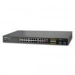 PLANET XGSW-28040 24-Port 10/100/1000Mbps with 4 Shared SFP + 4-Port 10G SFP+ Managed Switch